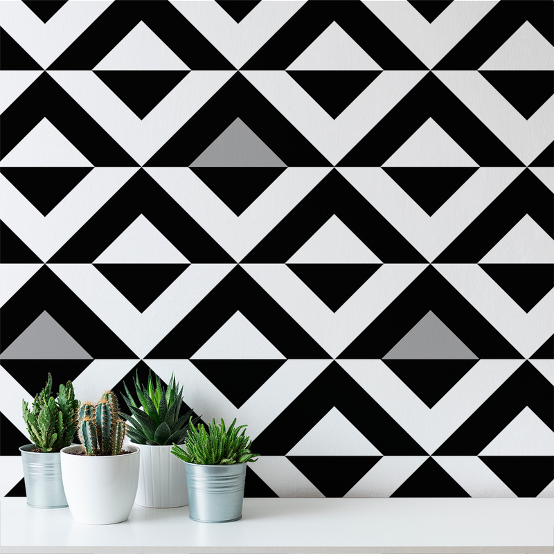 Diamond - Formal - Trendy Custom Wallpaper | Contemporary Wallpaper Designs | The Detroit Wallpaper Co.