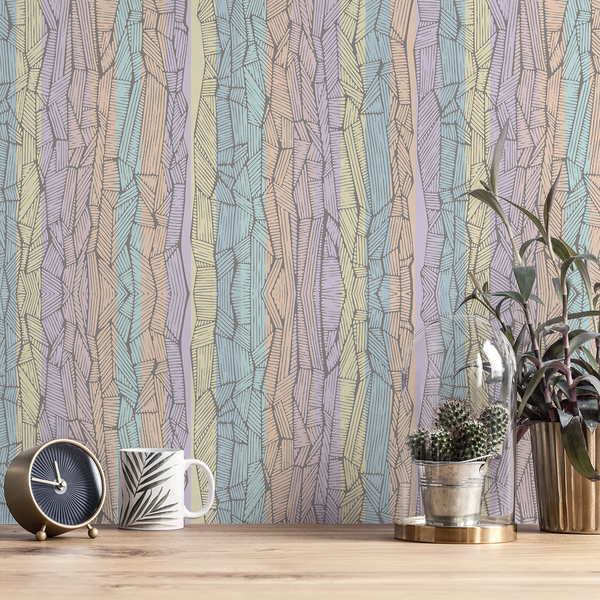Dig Dug - Eucalyptus - Trendy Custom Wallpaper | Contemporary Wallpaper Designs | The Detroit Wallpaper Co.