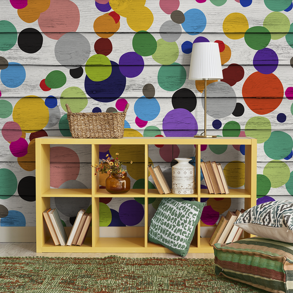 Dotty Wotty - Gumball <br> Heidelberg Project - Trendy Custom Wallpaper | Contemporary Wallpaper Designs | The Detroit Wallpaper Co.