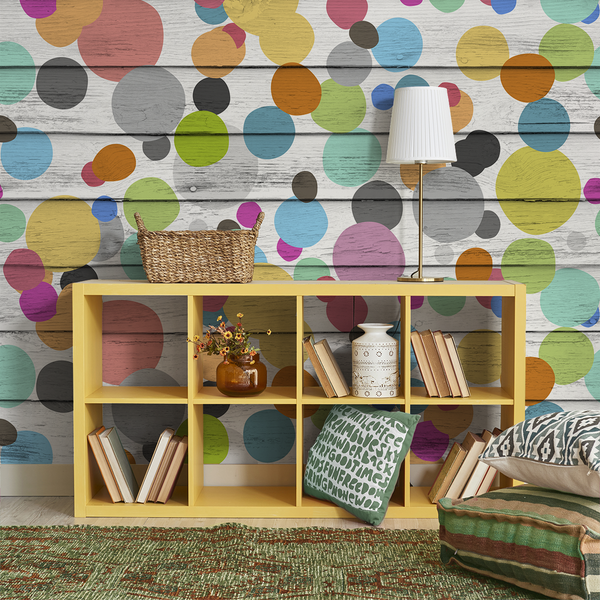 Dotty Wotty - Gumdrop <br> Heidelberg Project - Trendy Custom Wallpaper | Contemporary Wallpaper Designs | The Detroit Wallpaper Co.