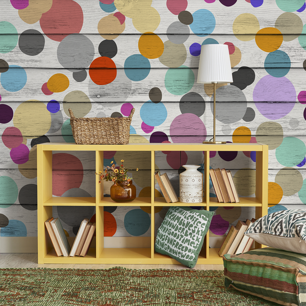 Dotty Wotty - Jellybean <br> Heidelberg Project - Trendy Custom Wallpaper | Contemporary Wallpaper Designs | The Detroit Wallpaper Co.