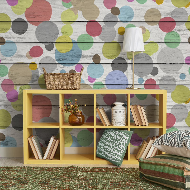 Dotty Wotty - Taffy <br> Heidelberg Project - Trendy Custom Wallpaper | Contemporary Wallpaper Designs | The Detroit Wallpaper Co.