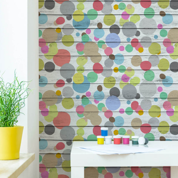 Dotty Wotty - Trendy Custom Wallpaper | Contemporary Wallpaper Designs | The Detroit Wallpaper Co.