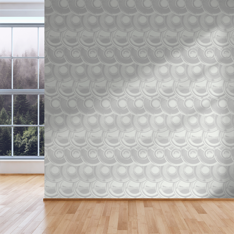 Downtown Hub - Alloy - Trendy Custom Wallpaper | Contemporary Wallpaper Designs | The Detroit Wallpaper Co.