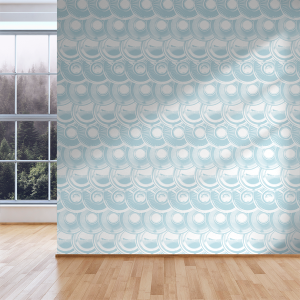 Downtown Hub - Road - Trendy Custom Wallpaper | Contemporary Wallpaper Designs | The Detroit Wallpaper Co.
