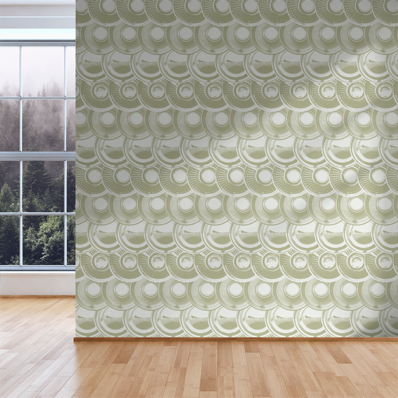 Downtown Hub - Vintage - Trendy Custom Wallpaper | Contemporary Wallpaper Designs | The Detroit Wallpaper Co.