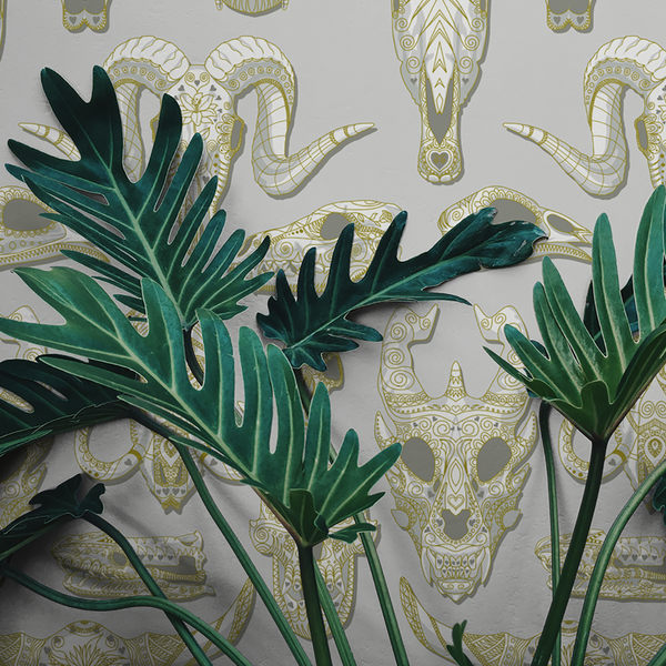 Draco - Bone - Trendy Custom Wallpaper | Contemporary Wallpaper Designs | The Detroit Wallpaper Co.