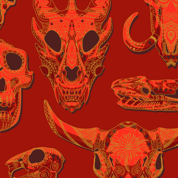 Draco - Rouge - Trendy Custom Wallpaper | Contemporary Wallpaper Designs | The Detroit Wallpaper Co.