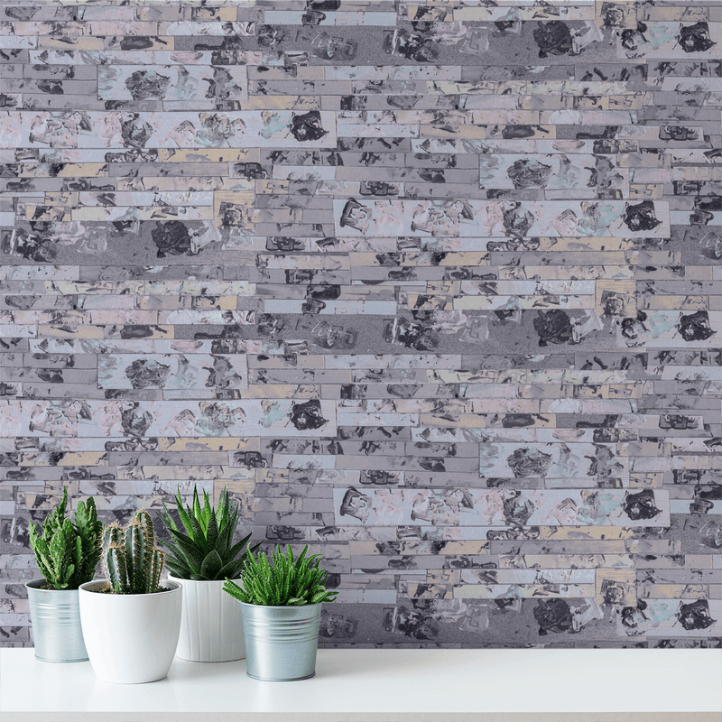Everything's Fine <br> Nanci & Allen Einstein - Trendy Custom Wallpaper | Contemporary Wallpaper Designs | The Detroit Wallpaper Co.