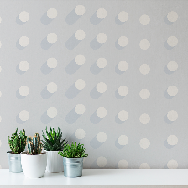 Extrude - Foggy - Trendy Custom Wallpaper | Contemporary Wallpaper Designs | The Detroit Wallpaper Co.