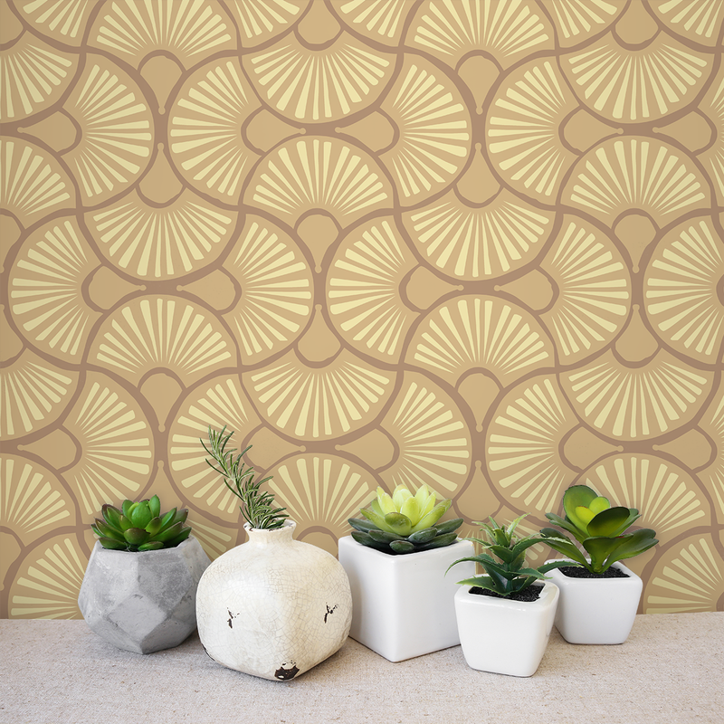 Fantutti - Corriander <br> Victoria Larson - Trendy Custom Wallpaper | Contemporary Wallpaper Designs | The Detroit Wallpaper Co.