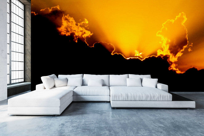 Fiery Sunset <br> Brenda Rosenberg - Trendy Custom Wallpaper | Contemporary Wallpaper Designs | The Detroit Wallpaper Co.