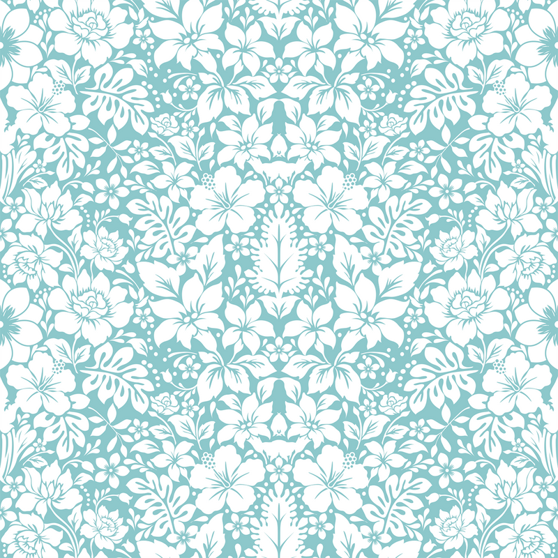 Fleur - Azure - The Detroit Wallpaper Co.