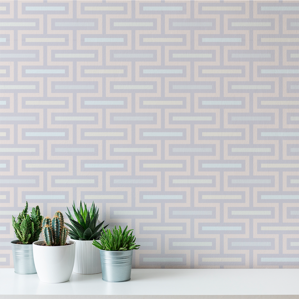 Floating Fret - Wisp - Trendy Custom Wallpaper | Contemporary Wallpaper Designs | The Detroit Wallpaper Co.