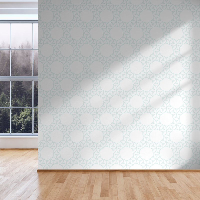 Flow Flower - Bucky - Trendy Custom Wallpaper | Contemporary Wallpaper Designs | The Detroit Wallpaper Co.