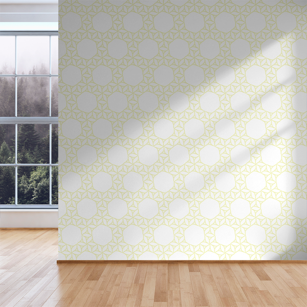 Flow Flower - Electric - Trendy Custom Wallpaper | Contemporary Wallpaper Designs | The Detroit Wallpaper Co.