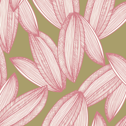 Foliage - Petal <br> Elizabeth Salonen - Trendy Custom Wallpaper | Contemporary Wallpaper Designs | The Detroit Wallpaper Co.