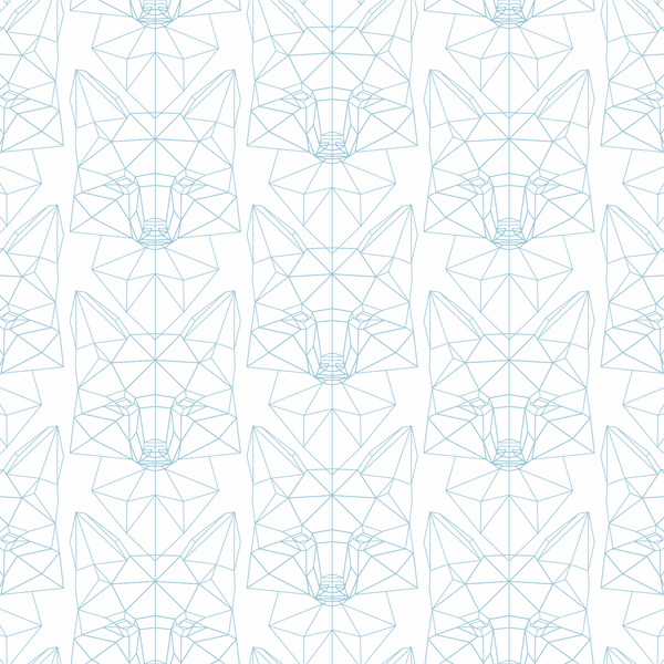 Foxtrot - Blueline - Trendy Custom Wallpaper | Contemporary Wallpaper Designs | The Detroit Wallpaper Co.
