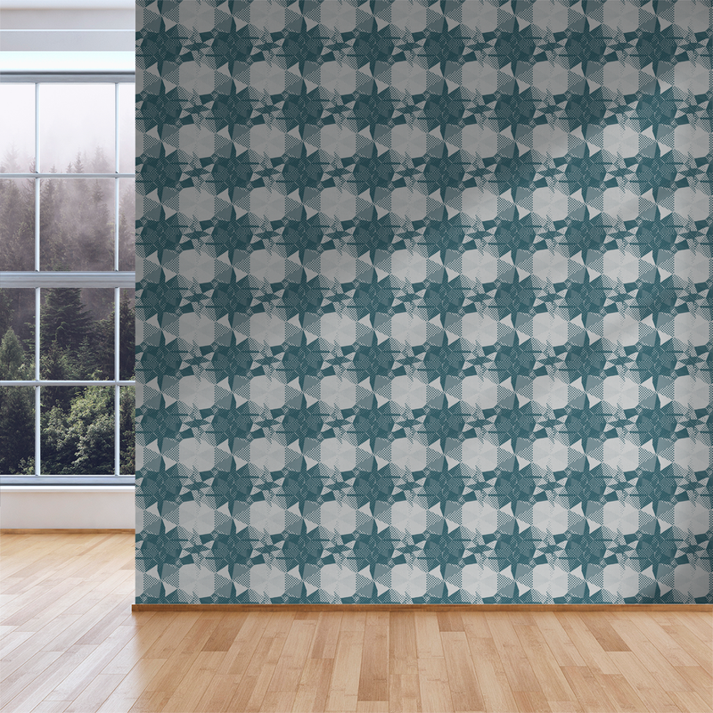 Fractured - View - Trendy Custom Wallpaper | Contemporary Wallpaper Designs | The Detroit Wallpaper Co.