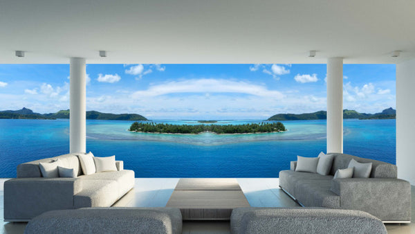 French Polynesia - Trendy Custom Wallpaper | Contemporary Wallpaper Designs | The Detroit Wallpaper Co.