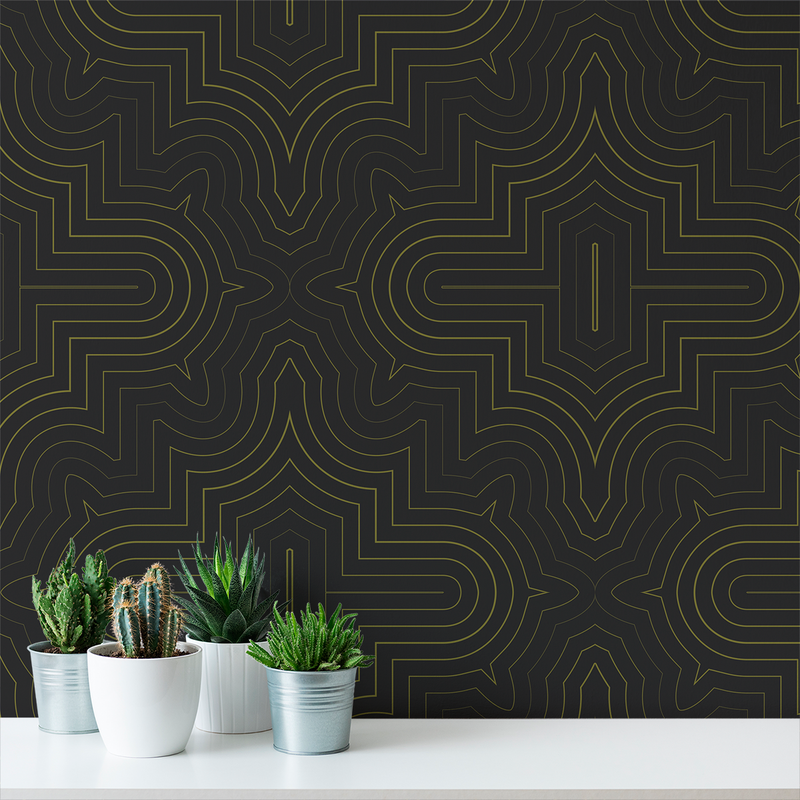 Goldrush - Disco - Trendy Custom Wallpaper | Contemporary Wallpaper Designs | The Detroit Wallpaper Co.