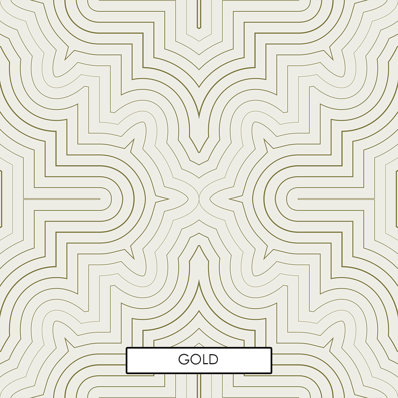 Goldrush - Peel and Stick Wallpaper - Trendy Custom Wallpaper | Contemporary Wallpaper Designs | The Detroit Wallpaper Co.