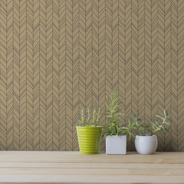 Hand Me Down - Craft - Trendy Custom Wallpaper | Contemporary Wallpaper Designs | The Detroit Wallpaper Co.