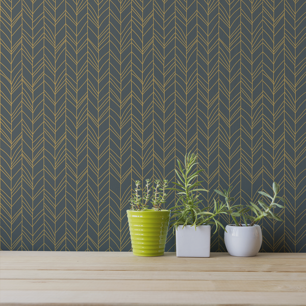 Hand Me Down - Peel and Stick Wallpaper - Trendy Custom Wallpaper | Contemporary Wallpaper Designs | The Detroit Wallpaper Co.
