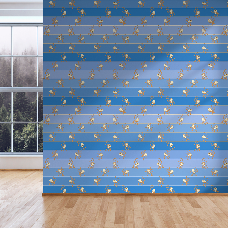 Hanging Out - Monkey Bars - Trendy Custom Wallpaper | Contemporary Wallpaper Designs | The Detroit Wallpaper Co.