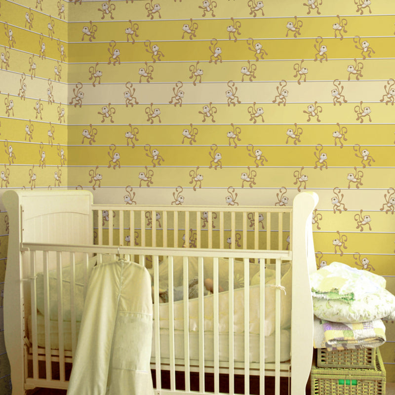 Hanging Out - Bananas - Trendy Custom Wallpaper | Contemporary Wallpaper Designs | The Detroit Wallpaper Co.