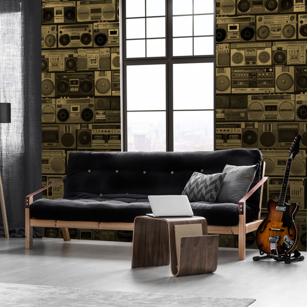 HiFi - Bronze - Trendy Custom Wallpaper | Contemporary Wallpaper Designs | The Detroit Wallpaper Co.