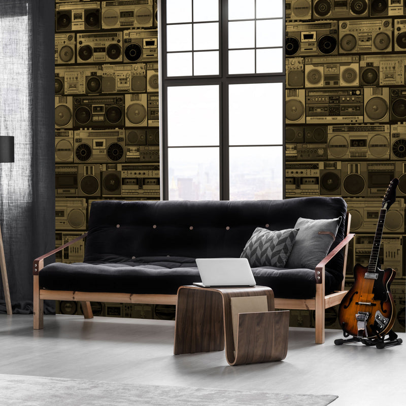 HiFi - Bass - Trendy Custom Wallpaper | Contemporary Wallpaper Designs | The Detroit Wallpaper Co.