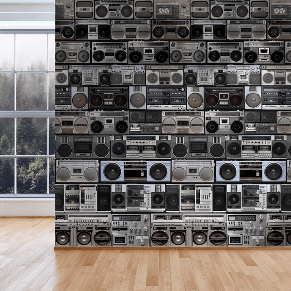 HiFi - Stereo - Trendy Custom Wallpaper | Contemporary Wallpaper Designs | The Detroit Wallpaper Co.