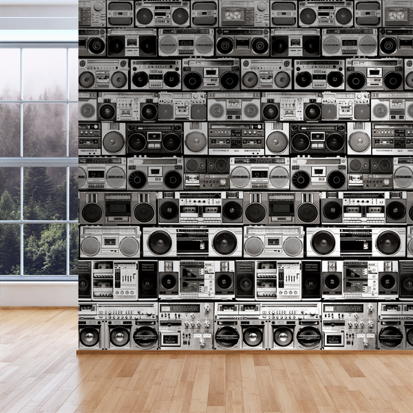 HiFi - Mono - Trendy Custom Wallpaper | Contemporary Wallpaper Designs | The Detroit Wallpaper Co.