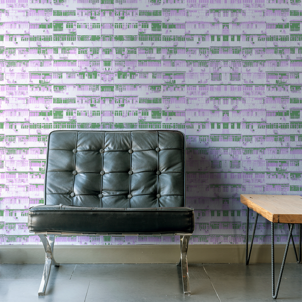 High Rise - Pulse - Trendy Custom Wallpaper | Contemporary Wallpaper Designs | The Detroit Wallpaper Co.