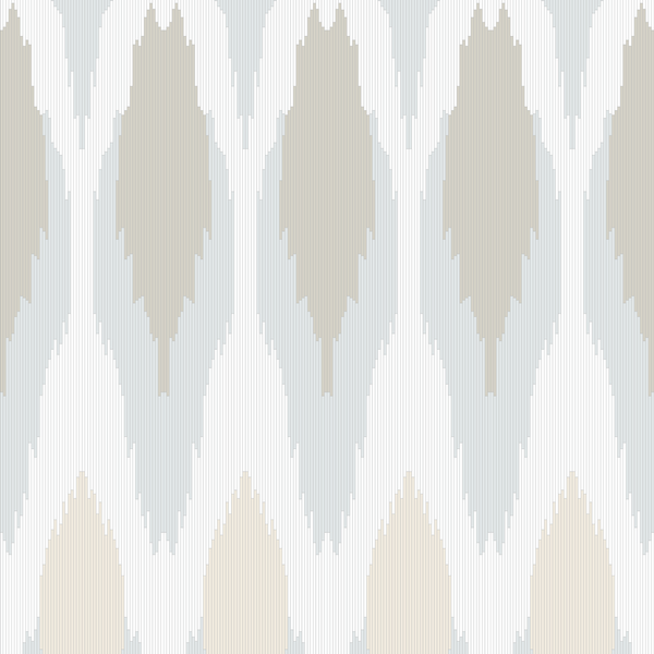 Ikat - Mineral - Trendy Custom Wallpaper | Contemporary Wallpaper Designs | The Detroit Wallpaper Co.