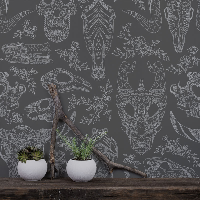 Inked - Chalkboard - Trendy Custom Wallpaper | Contemporary Wallpaper Designs | The Detroit Wallpaper Co.