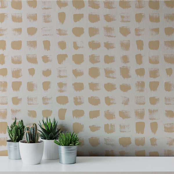 Inkwell - Gold <br> Elizabeth Salonen - Trendy Custom Wallpaper | Contemporary Wallpaper Designs | The Detroit Wallpaper Co.