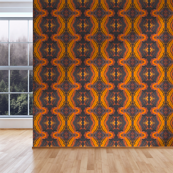 Jasper - Inferno - Trendy Custom Wallpaper | Contemporary Wallpaper Designs | The Detroit Wallpaper Co.