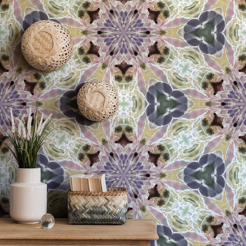 Kaleidoscope - Nova - Trendy Custom Wallpaper | Contemporary Wallpaper Designs | The Detroit Wallpaper Co.