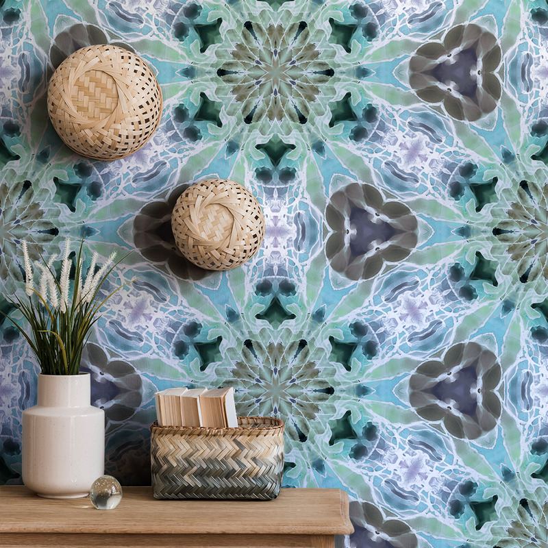 Kaleidoscope - Snowflake - Trendy Custom Wallpaper | Contemporary Wallpaper Designs | The Detroit Wallpaper Co.