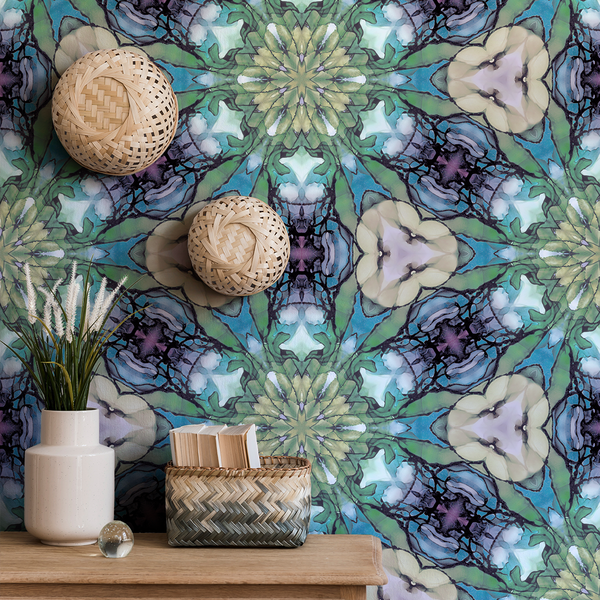 Kaleidoscope - Tiffany - Trendy Custom Wallpaper | Contemporary Wallpaper Designs | The Detroit Wallpaper Co.
