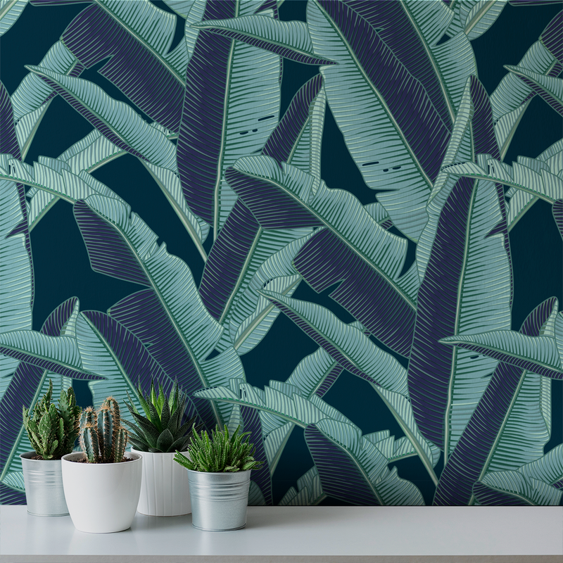 Lanai - Humid - Trendy Custom Wallpaper | Contemporary Wallpaper Designs | The Detroit Wallpaper Co.