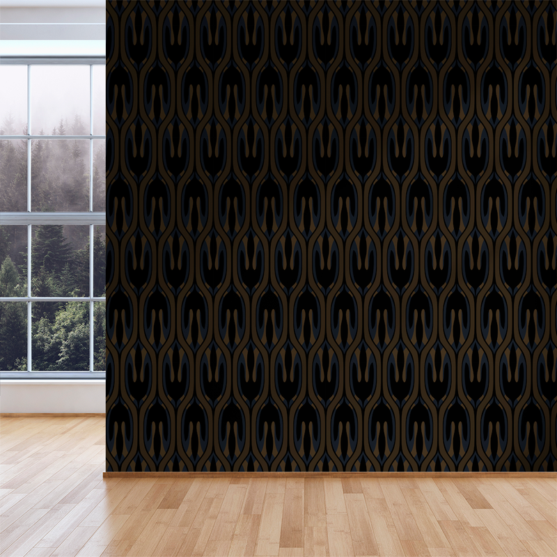 Leaf - Sultry - Trendy Custom Wallpaper | Contemporary Wallpaper Designs | The Detroit Wallpaper Co.