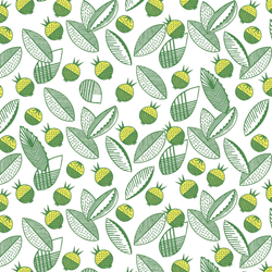 Leaves and Berries - Lund <br> Elizabeth Salonen - Trendy Custom Wallpaper | Contemporary Wallpaper Designs | The Detroit Wallpaper Co.