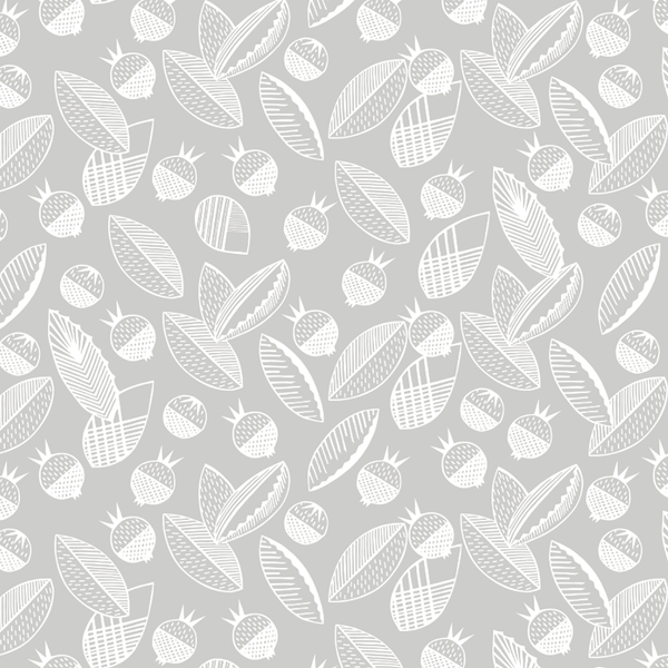 Leaves and Berries - Sala <br> Elizabeth Salonen - Trendy Custom Wallpaper | Contemporary Wallpaper Designs | The Detroit Wallpaper Co.