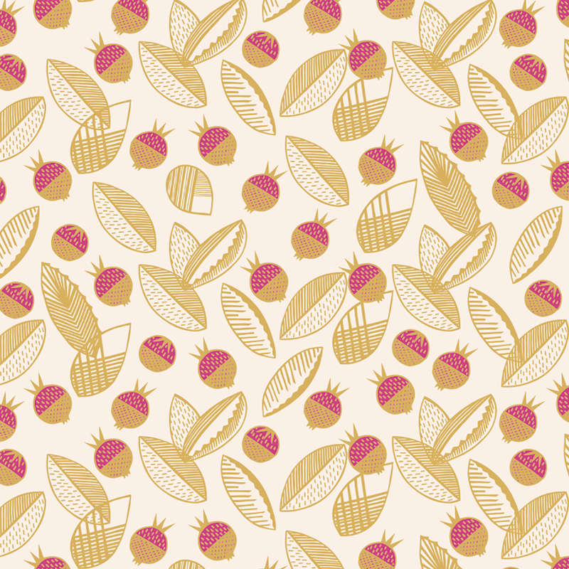 Leaves and Berries - Vetlanda <br> Elizabeth Salonen - Trendy Custom Wallpaper | Contemporary Wallpaper Designs | The Detroit Wallpaper Co.
