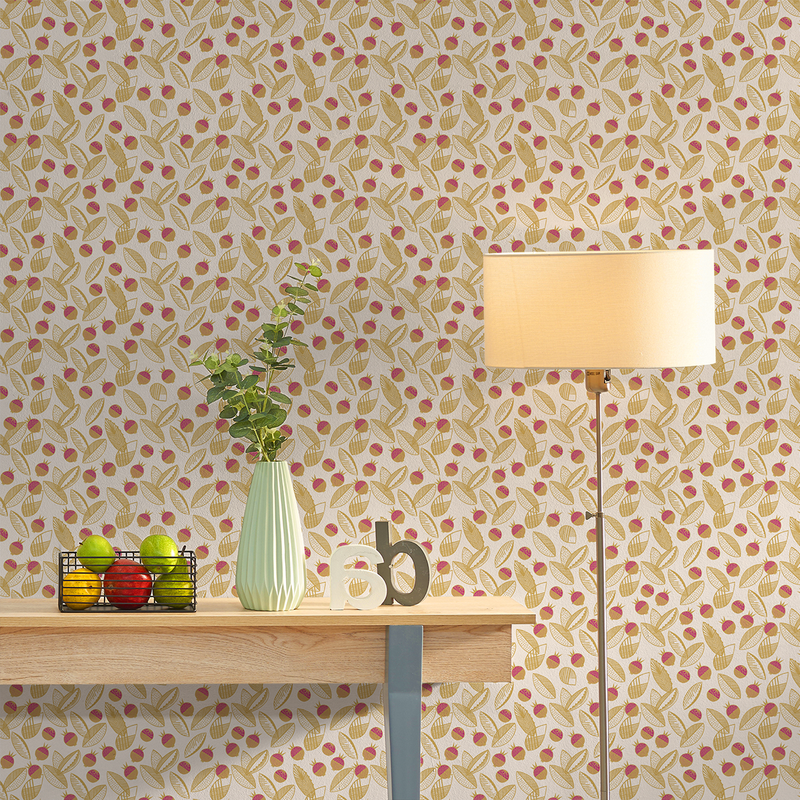 Leaves and Berries - Vetlanda Elizabeth Salonen – The Detroit Wallpaper Co.