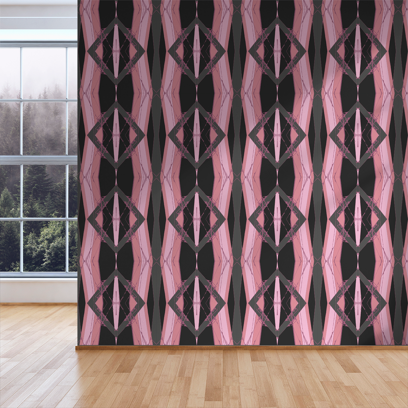 Lines Crossed - Lipstick - Trendy Custom Wallpaper | Contemporary Wallpaper Designs | The Detroit Wallpaper Co.