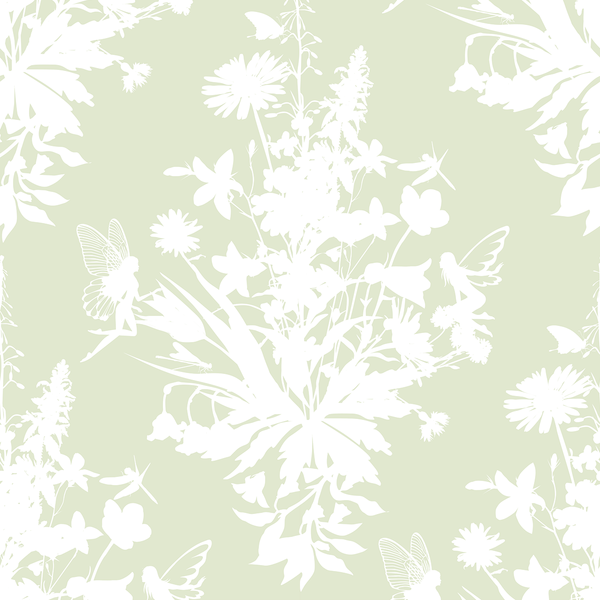 Madame Fairy - Garden - Trendy Custom Wallpaper | Contemporary Wallpaper Designs | The Detroit Wallpaper Co.